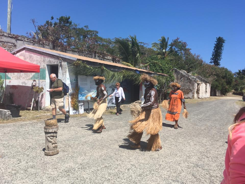 Traditional dance by the locals